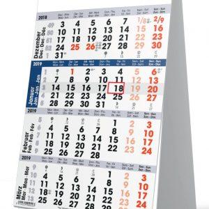 Bureaukalender 4 maanden 2019