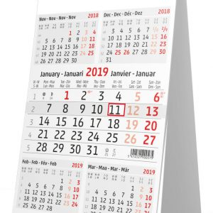 Bureaukalender 5 maanden 2019