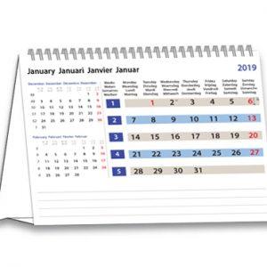 Bureaukalender A5 Modern 2019
