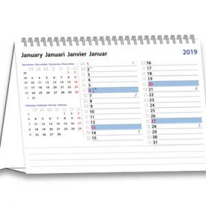 Bureaukalender liggend Modern Memo 2019