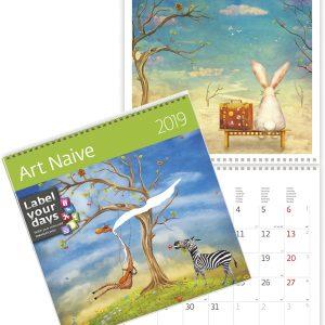 Muurkalender 30x30 2019 Art Naive