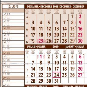 Mini 3-maandkalender memo