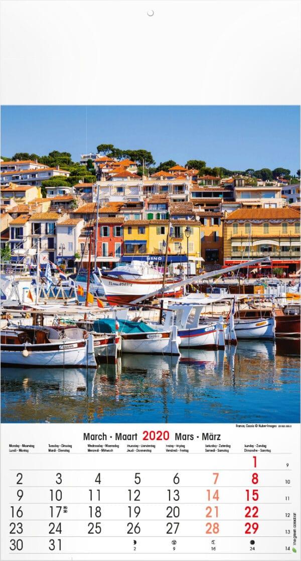 Muurkalender Mediterranean 2020 maart