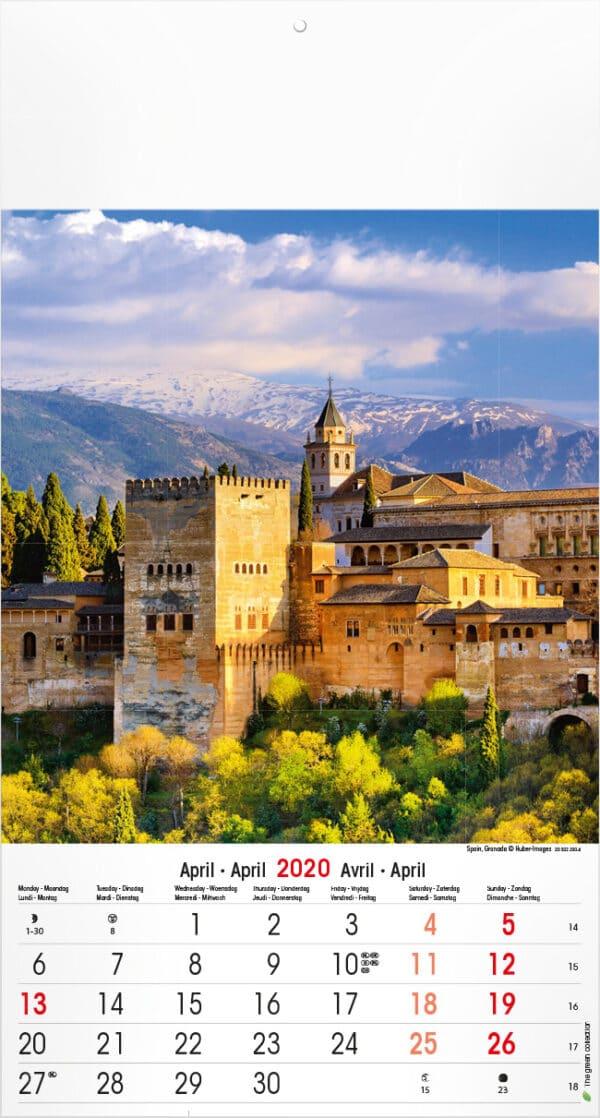 Muurkalender Mediterranean 2020 april
