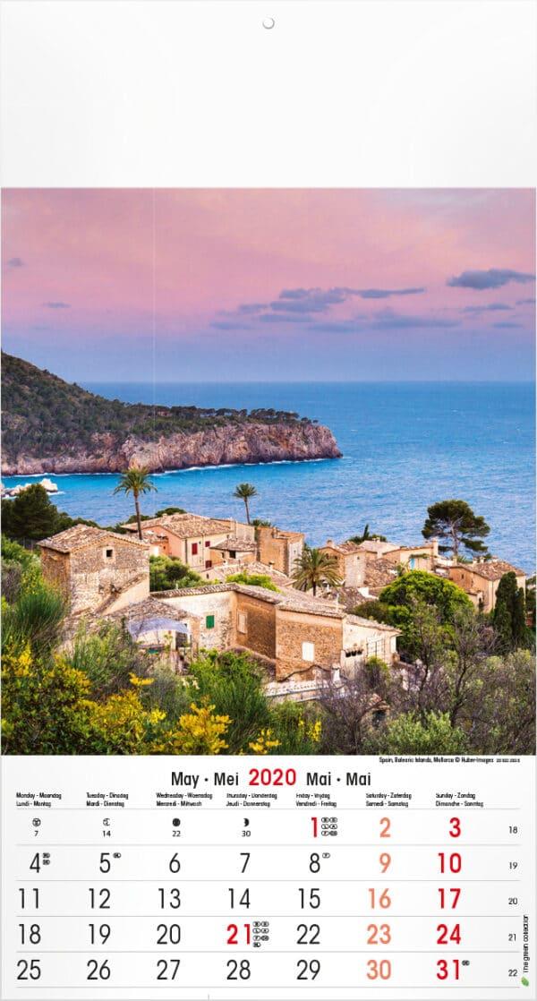 Muurkalender Mediterranean 2020 mei