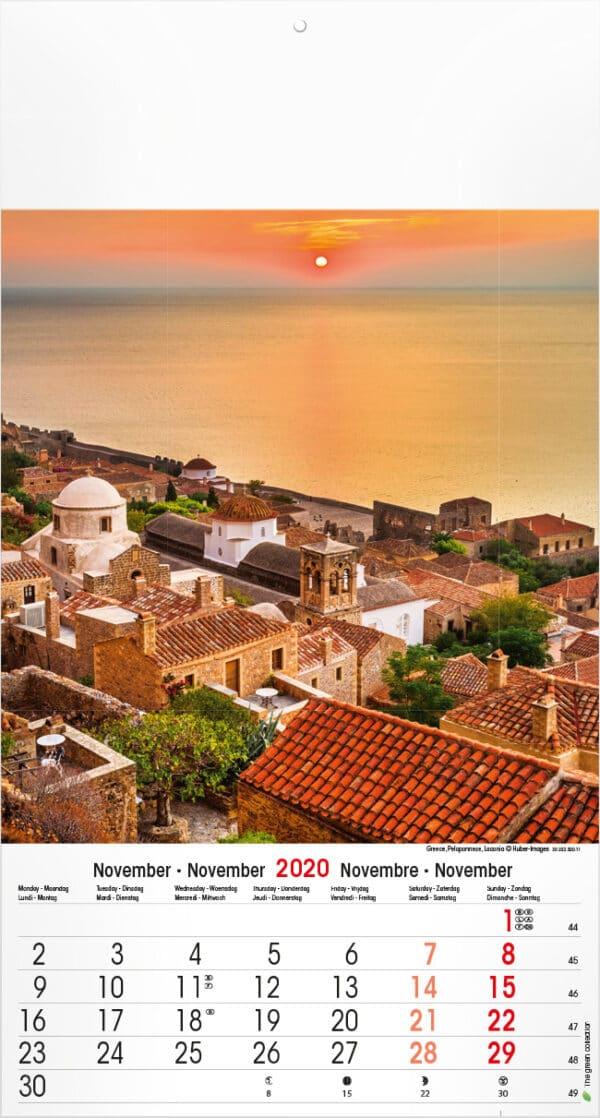 Muurkalender Mediterranean 2020 november