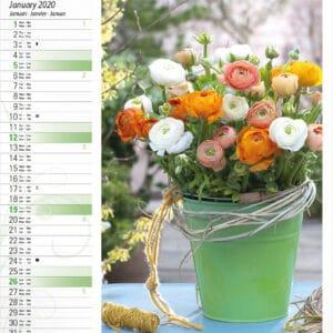 Muurkalender Bloemen 2020 januari