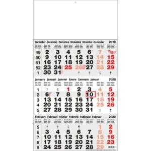 3 maaand kalender classic grijs