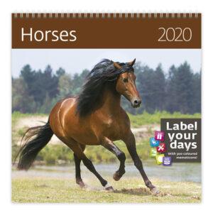 Muurkalender Paarden 2020