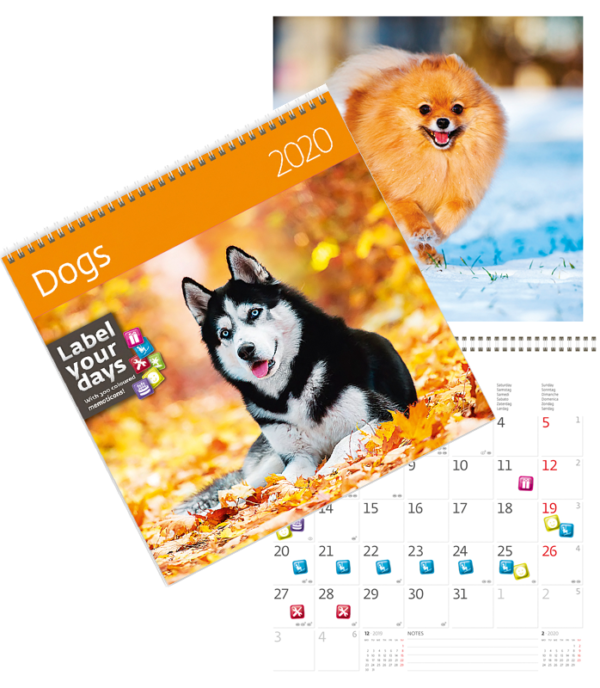 Muurkalender Honden 2020