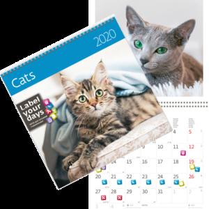Muurkalender Katten 2020