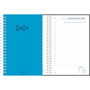 Agenda Daily 2020 blauw