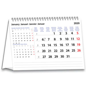 Bureaukalender International 2020