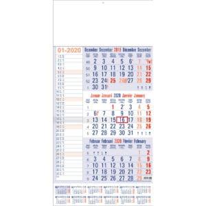 3 maandkalender memo met jaaroverzicht 2020
