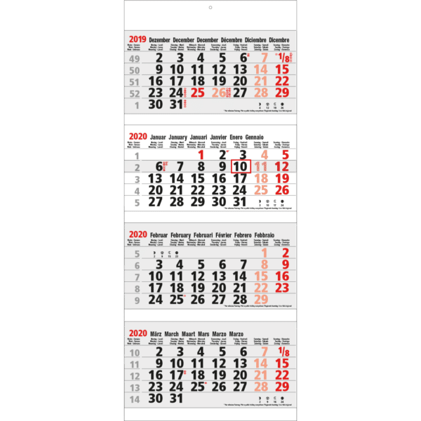 4 maandkalender Maxi