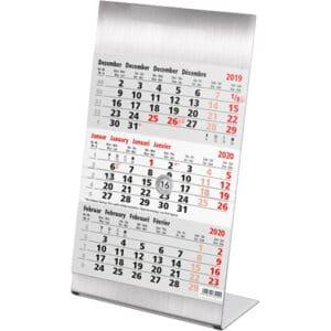 Kantoorkalender 3 maand Steel 2020