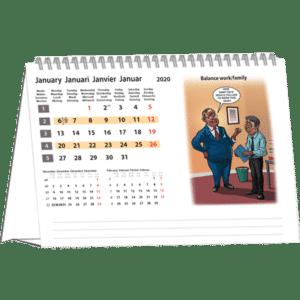 Kantoorkalender Cartoon 2020 Januari