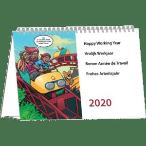 Kantoorkalender Cartoon 2020