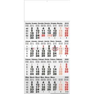 4 maandkalender grijs 2020