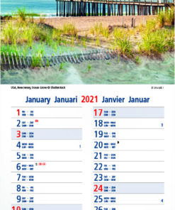 Strookkalender Seaside 2021 Januari