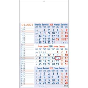 3-maandkalender Memo blauw