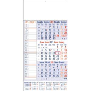 3-maandkalender memo met jaaroverzicht 2021