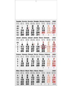 4-maandkalender Classic grijs 2021