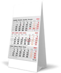 Kantoorkalender 3-maand grijs 2021