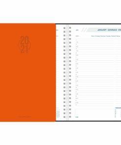 Agenda Daily spiraal oranje 2021