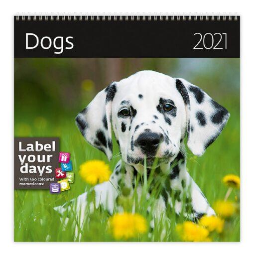 Muurkalender 30x30 Dogs 2021