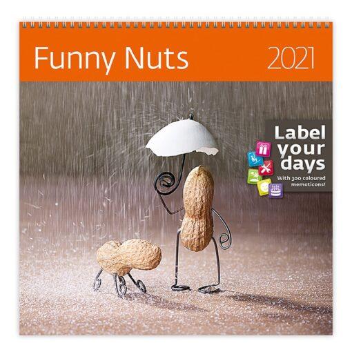 Muurkalender 30x30 Funny Nuts 2021