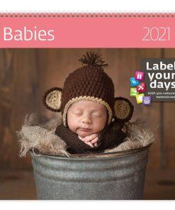 Muurkalender 30x30 Babies 2021