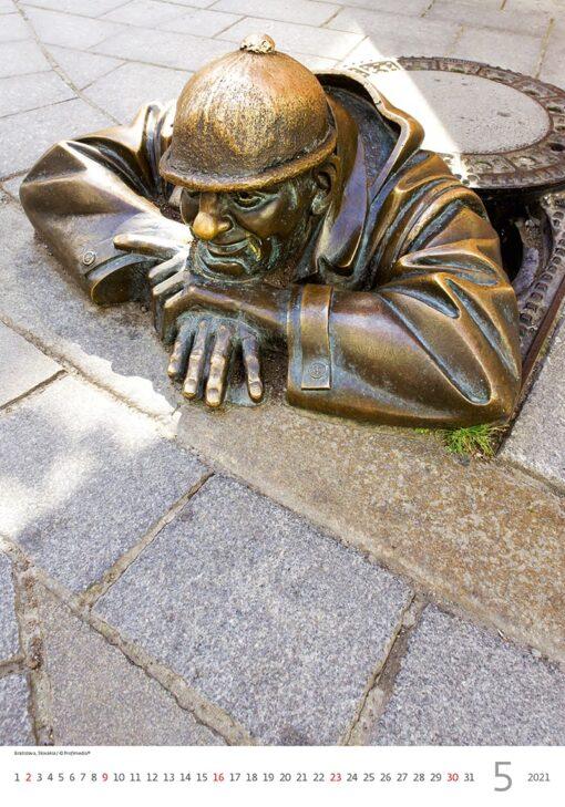 Muurkalender Modern Statues 2021 Mei