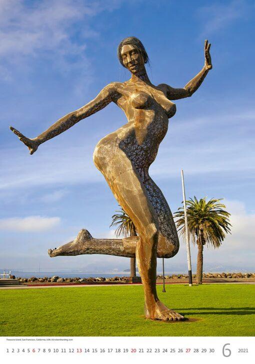 Muurkalender Modern Statues 2021 Juni