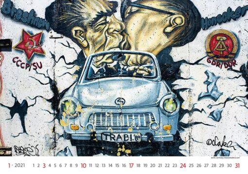 Muurkalender Street Art 2021 Januari