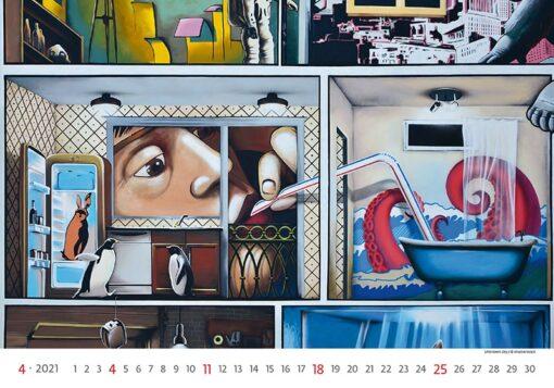 Muurkalender Street Art 2021 April