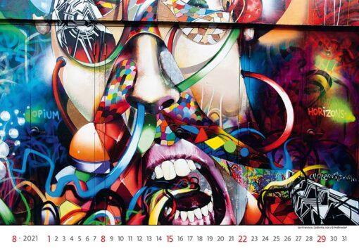 Muurkalender Street Art 2021 Augustus