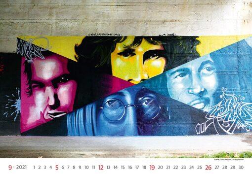Muurkalender Street Art 2021 September