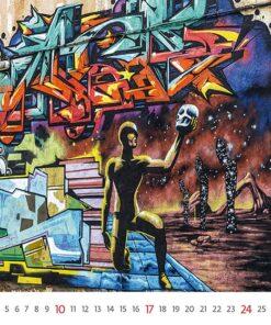 Muurkalender Street Art 2021 Oktober