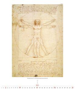 Kunstkalender Leonardo da Vinci 2021 Januari