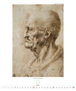 Kunstkalender Leonardo da Vinci 2021 Februari