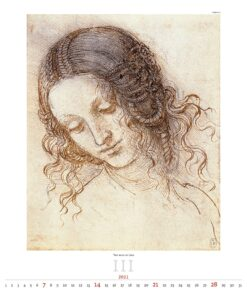 Kunstkalender Leonardo da Vinci 2021 Maart