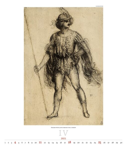Kunstkalender Leonardo da Vinci 2021 April