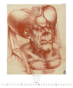 Kunstkalender Leonardo da Vinci 2021 Juli