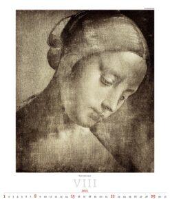 Kunstkalender Leonardo da Vinci 2021 Augustus