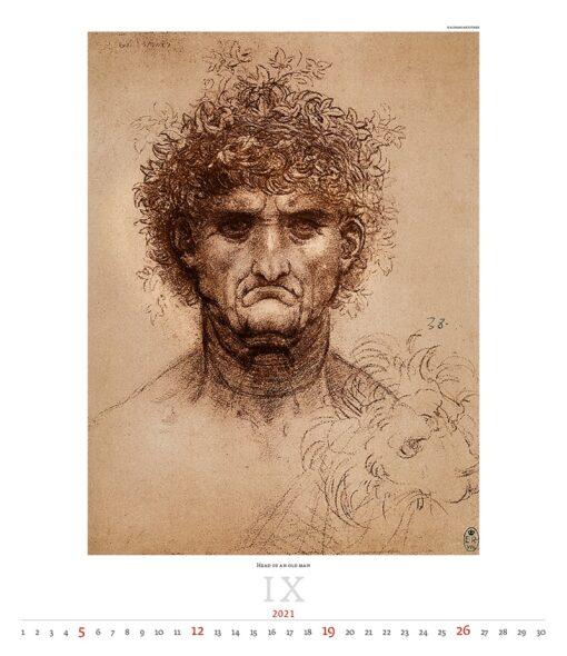 Kunstkalender Leonardo da Vinci 2021 September