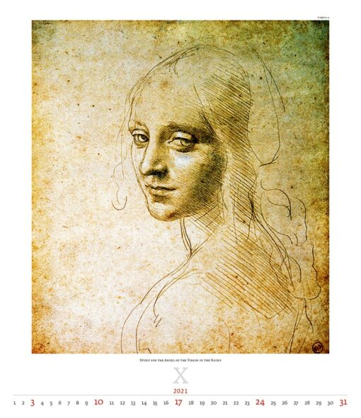 Kunstkalender Leonardo da Vinci 2021 November