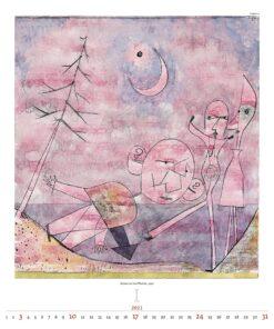 Kunstkalender Paul Klee 2021 Januari