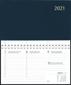 Agenda Novoplan spiraal blauw 2021