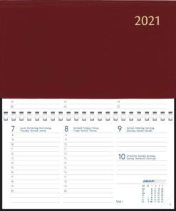 Agenda Novoplan spiraal bordeaux 2021